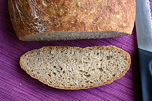 Faster No Knead Whole Wheat Bread