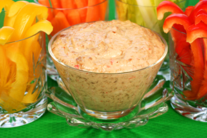 Caramelized Onion-Roasted Red Pepper Dip