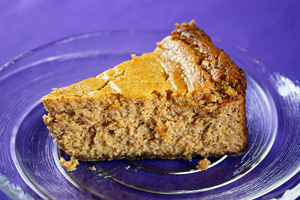 Lightened Pumpkin Cheesecake