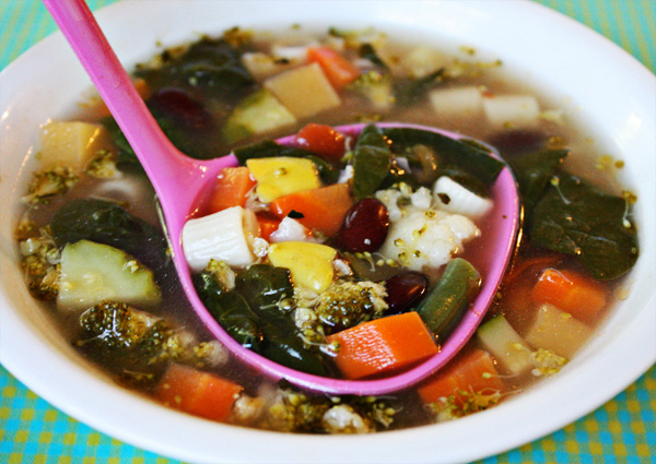 how to cook minestrone in the microwave