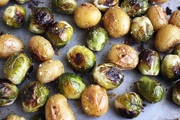 Roasted Brussels Sprouts & Potatoes
