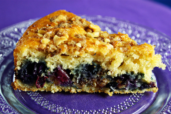 Homemade Blueberry Coffee Cake