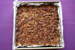oatmeal snacking cake with broiled topping