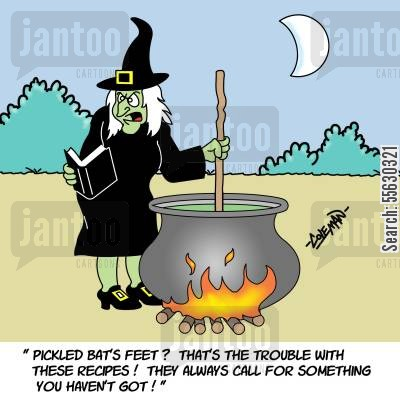 Witch Trying To Follow A Recipe.