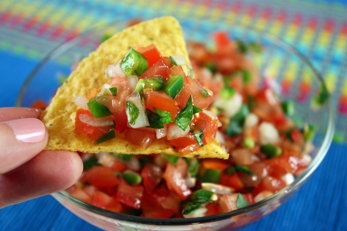 Image result for pico de gallo mexico with corn chips