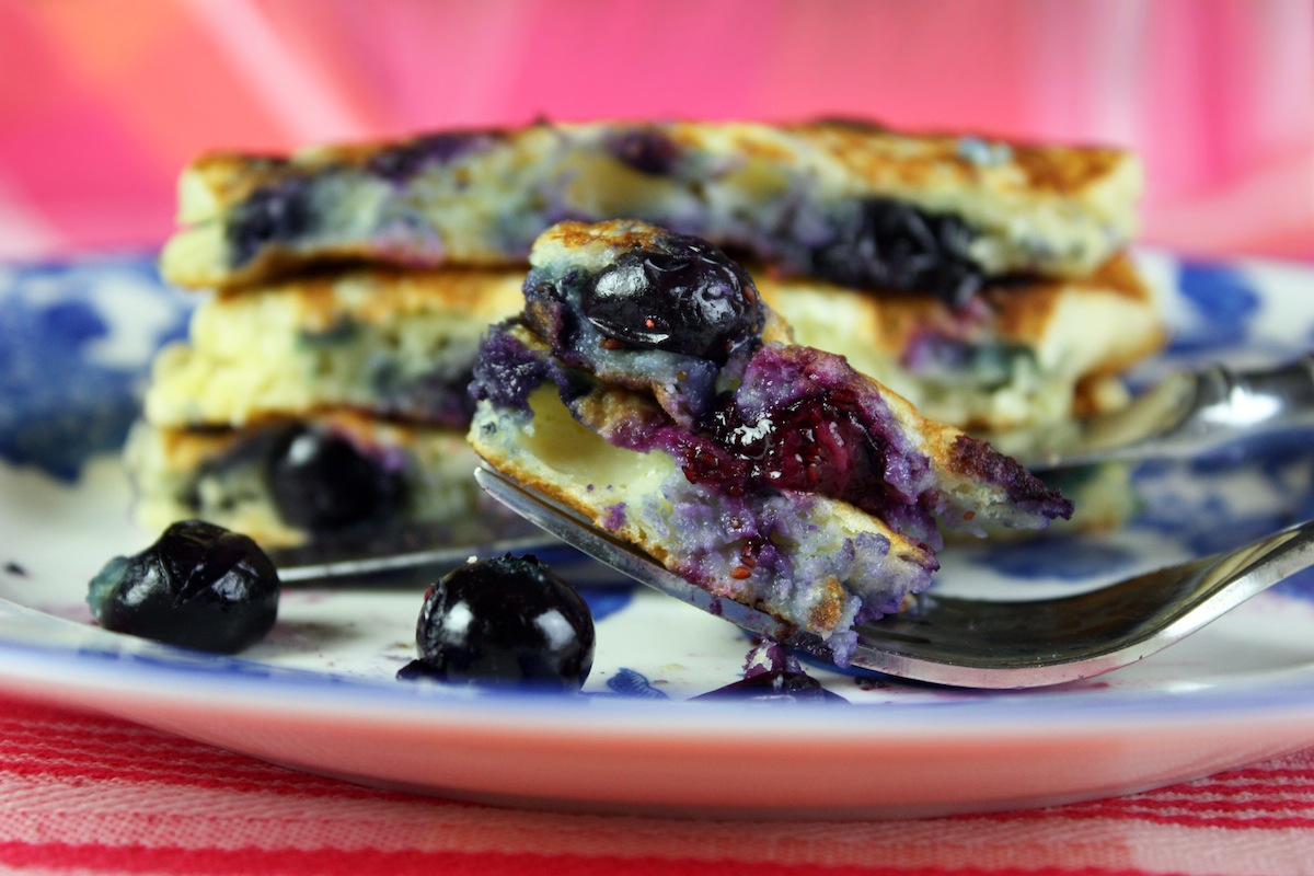 Fresh Blueberry Pancakes Recipe