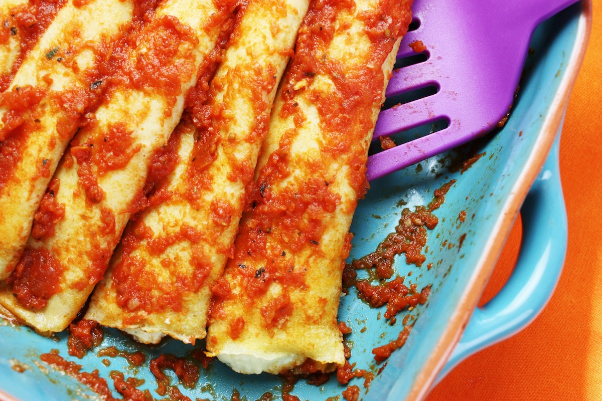 Homemade Manicotti Using Crepes