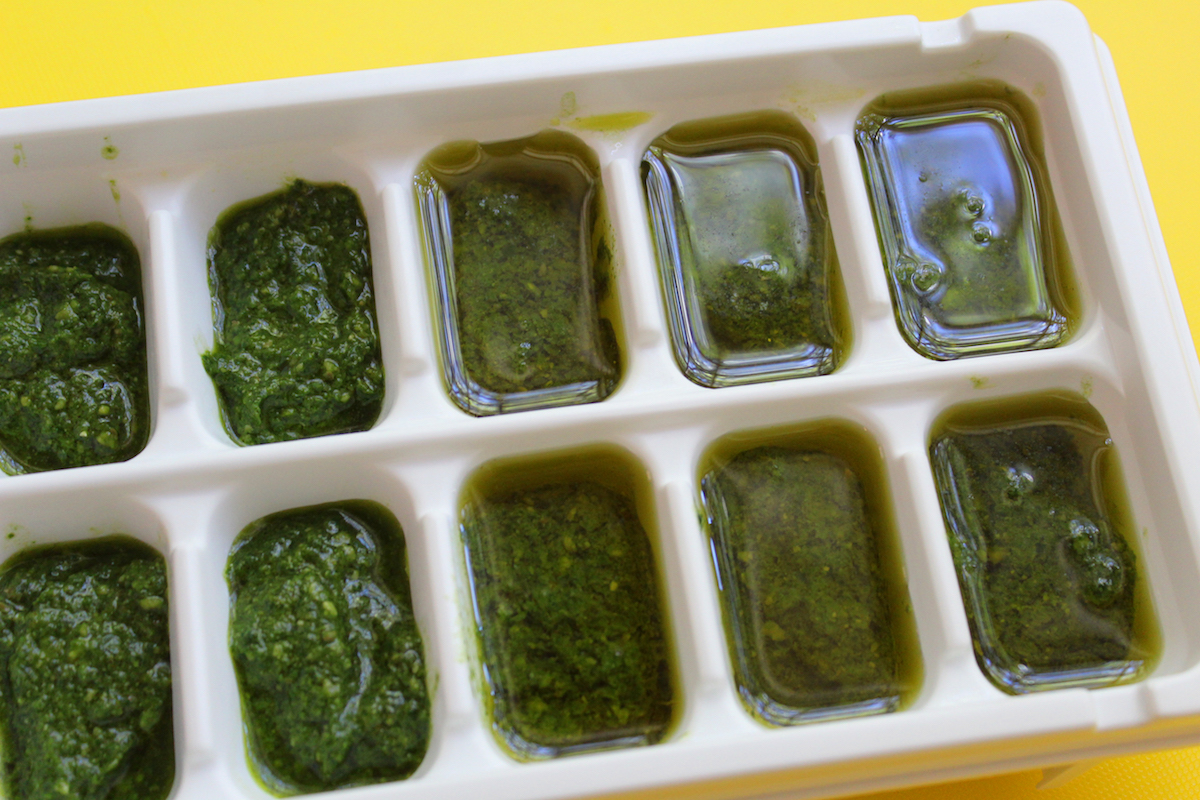 How To Freeze Pesto In Ice Cube Trays