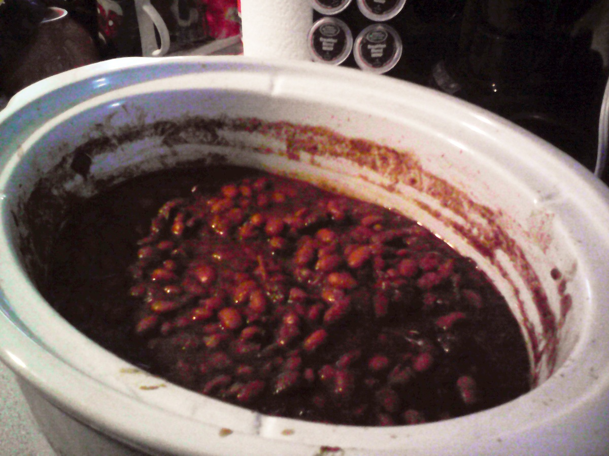 HEATHER MADE BAKED BEANS WITH MY BBQ SAUCE