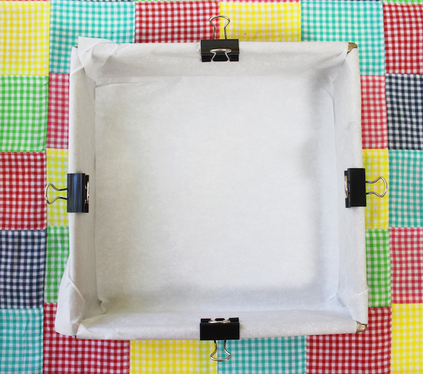 How To Line a Square Pan