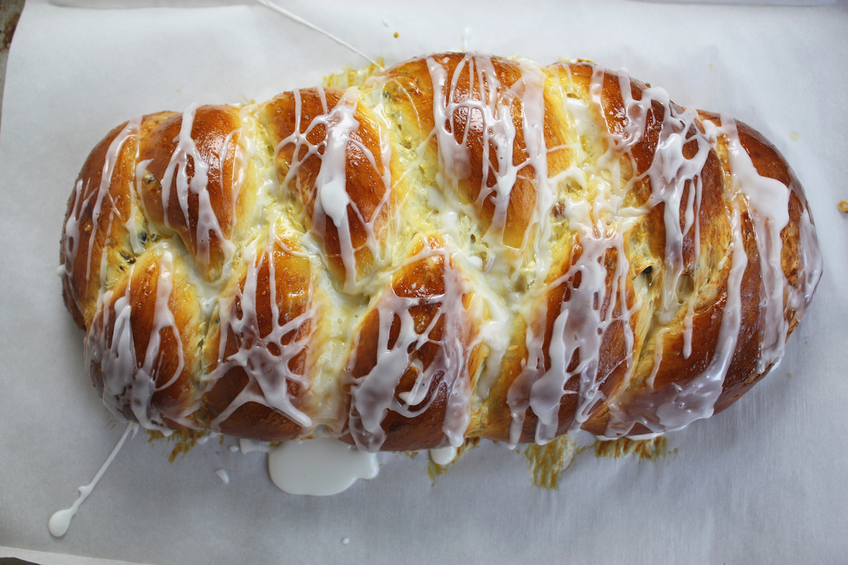 Holiday Braided Raisin Bread