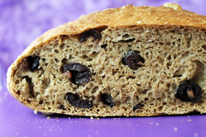 No Knead Greek Olive Bread