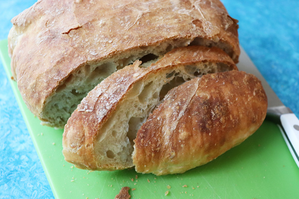 No Knead (NO DUTCH OVEN) Bread