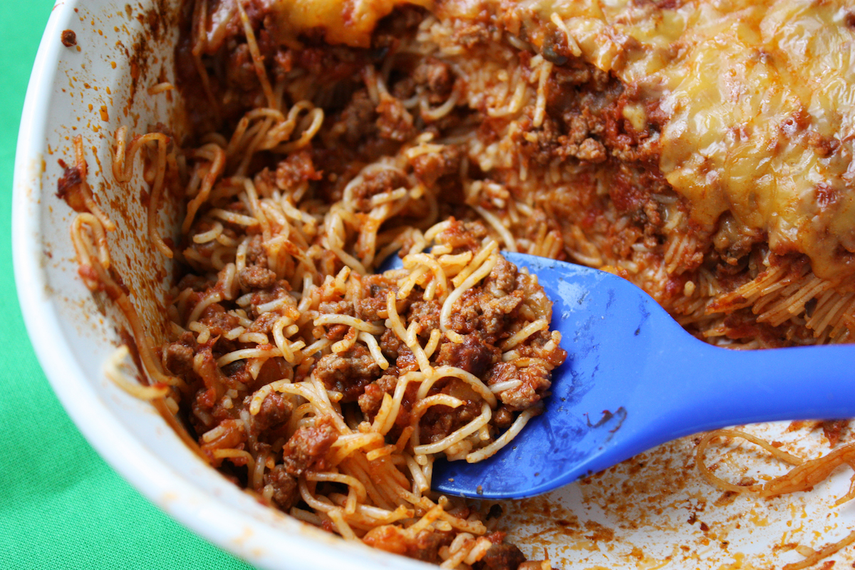 Easy Angel Hair Casserole