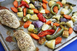 Easy One Pan Chicken & Vegetables
