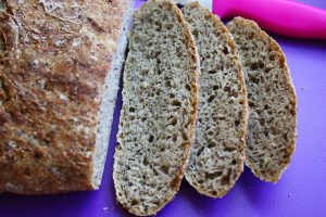 No Knead Bread with Flax