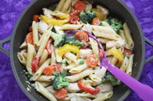 One Pot Chicken Veggie Pasta