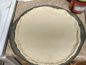 20-minute pizza dough for a taco pizza