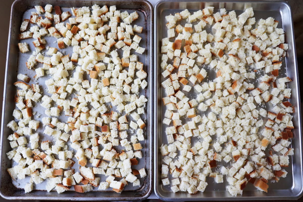 How To Dry Bread Cubes for Stuffing