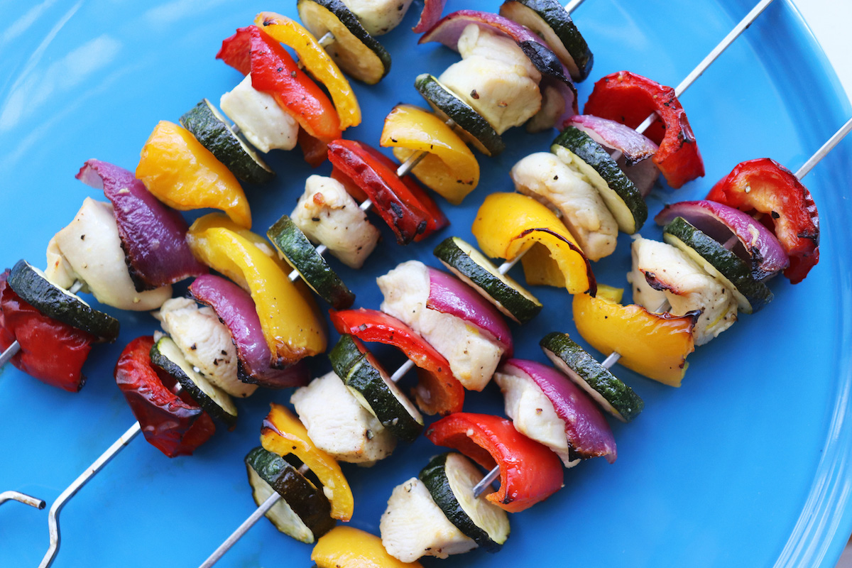 Chicken Veggie Skewers Oven