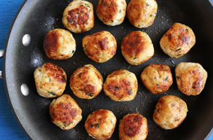 Pan Fried Turkey Meatballs