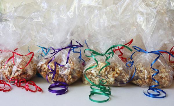 Caramel Corn for Christmas Gifts