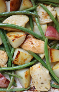 Greek Lemon Chicken, Potatoes & Green Beans
