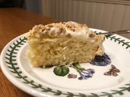 Homemade Coconut Cake