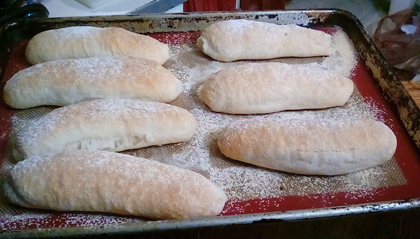 No Knead Hot Dog Buns