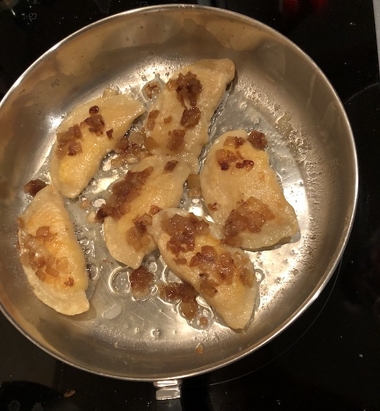 omemade Pan Fried Pierogi