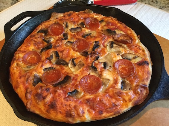 Pan Pizza from Jennycancook.com - before and after