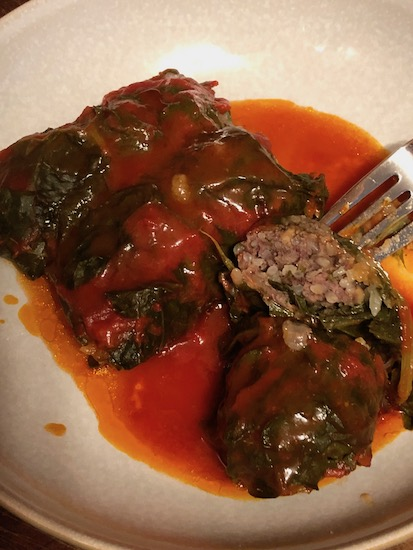 Cabbage Rolls With Chard