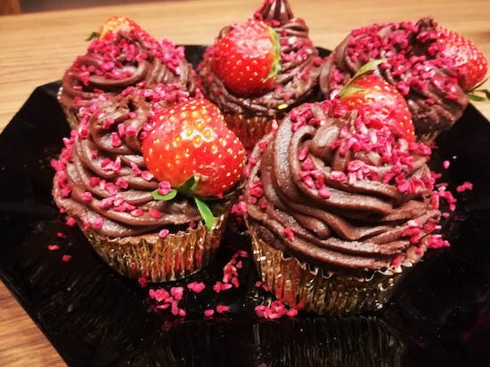 Chocolate_strawberry cupcakes