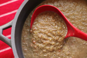 Simple Pureed Lentil Soup