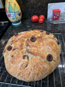 Dutch Oven Olive Bread