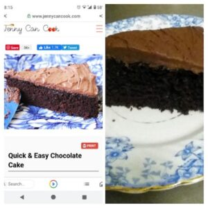 Jenny Can Cook Chocolate Cake